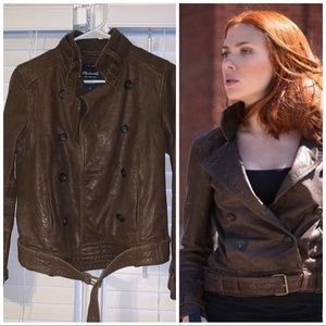 Brown Leather Madewell Jacket